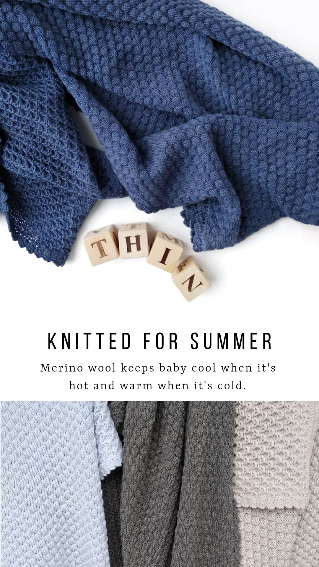 Knitted Baby Blanket For Baby Boy Merino Wool Baby Blanket Navy Blue Wool Baby Blanket Merino Wool Baby Baby Blanket