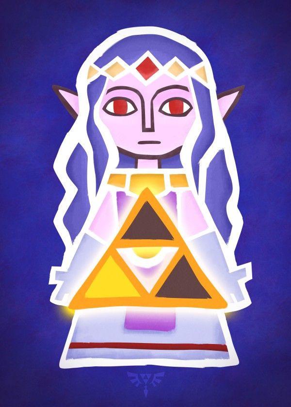 Courage Art Metal Poster Donnie Displate In 2021 Zelda Art Legend Of Zelda Zelda Birthday