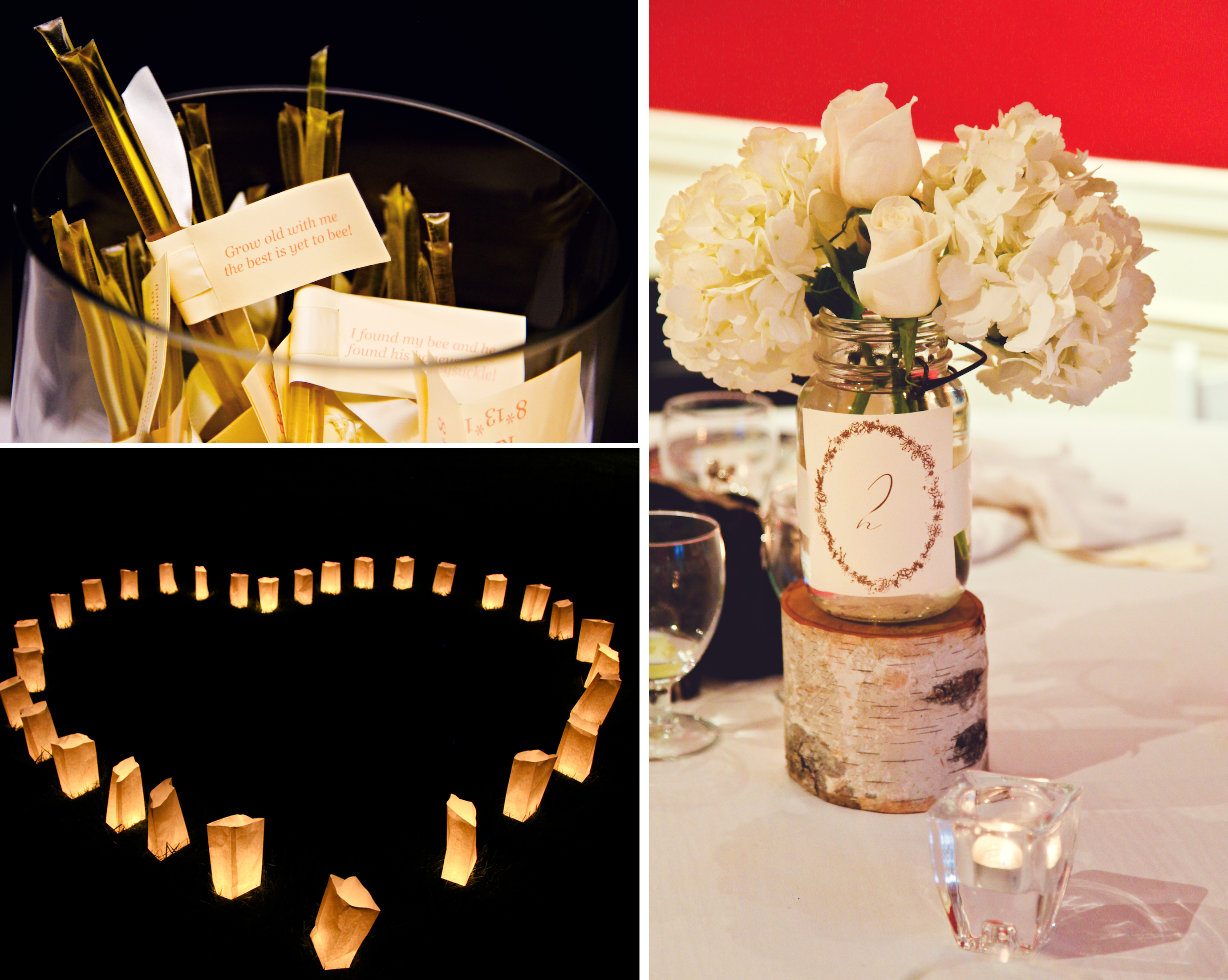 A gorgeous wedding for under wedding venue decorations