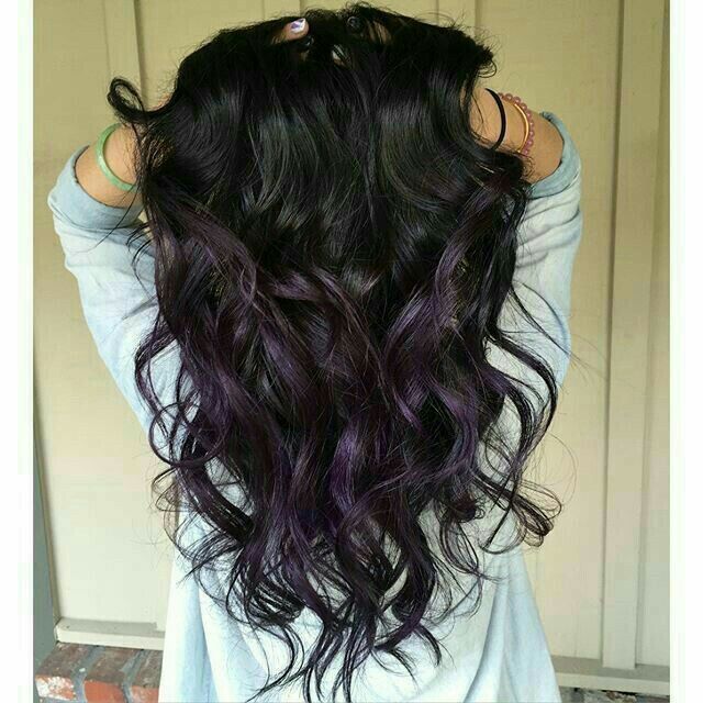 Dark Purple Highlights Health Beauty Hair Balayage Purple