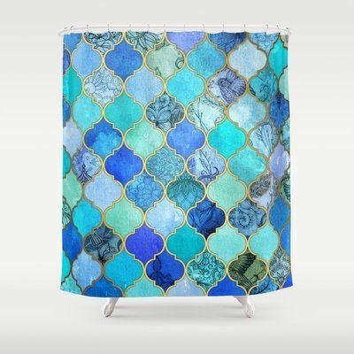 Best Cobalt Blue Shower Curtain Designs Blue Shower Curtains