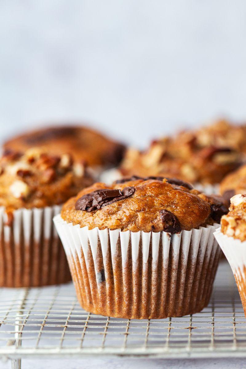 Oilfree peanut butter banana muffins Recipe in 2020