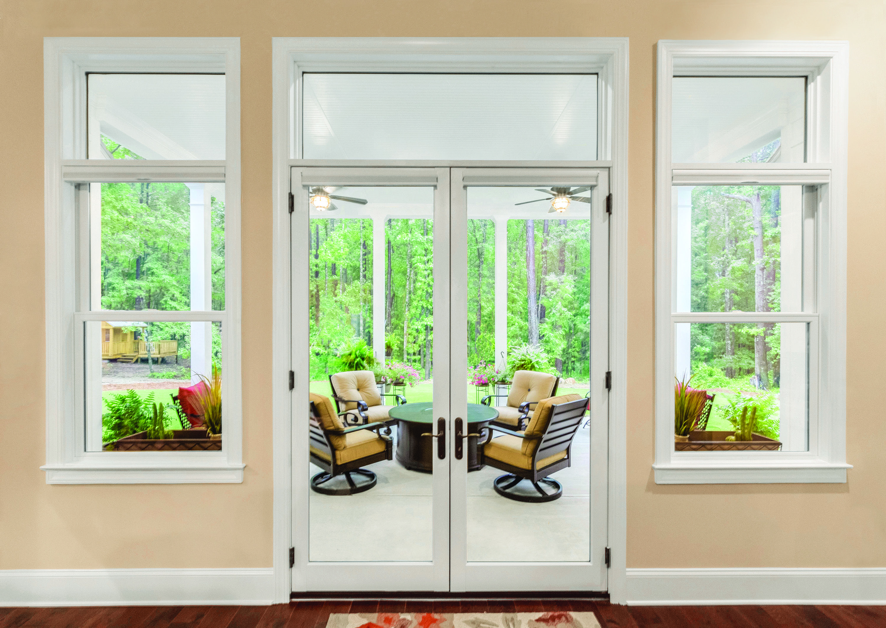 So Much Natural Light Sliding Doors Exterior French Doors Living Room Decor