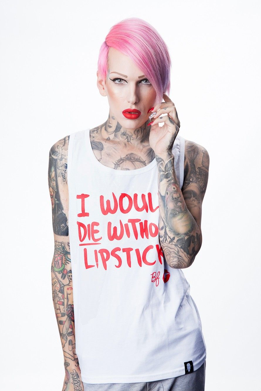 I Would Die Without Lipstick Womens