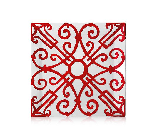 """Hermès Balcon du Guadalquivir Square plate n4 7.5"""" x 7.5"""" $175"""
