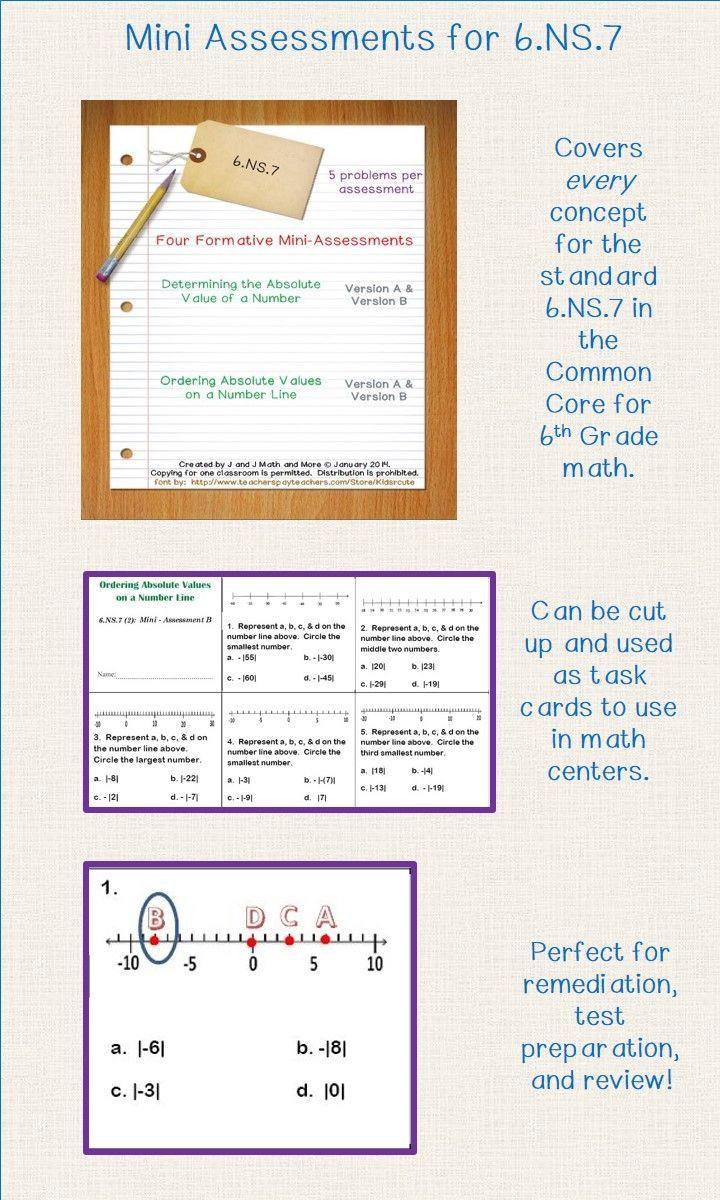 6th grade math 20 problems in four formative mini