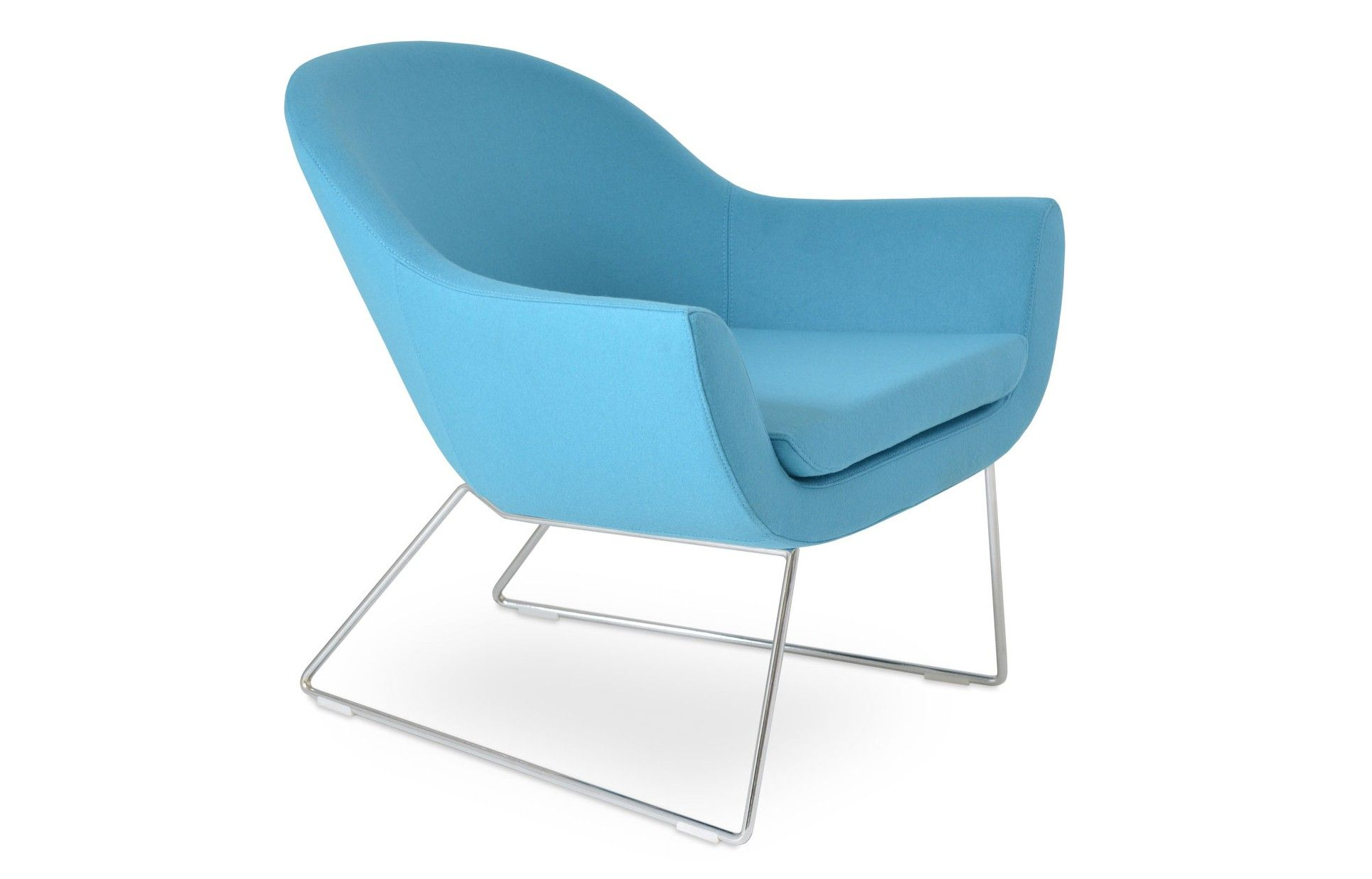 Madison Sled Wire Arm Chair | Arms, Polyurethane foam and Living ...