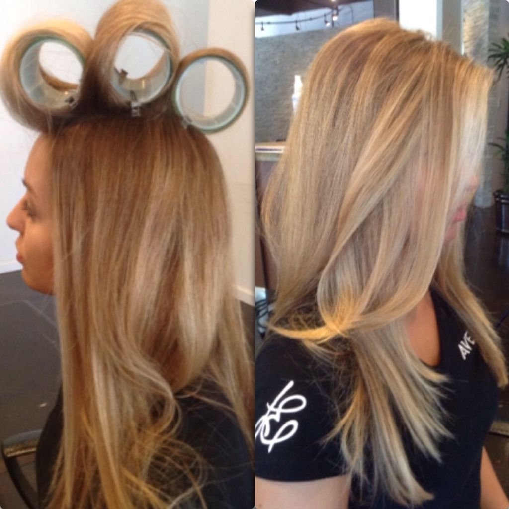 Velcro Roller After You Blow Dry Are Your Friend Leadingedgesalon Blowout Hair Hair Styles Aveda Hair