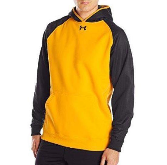 0c5e291cebd Under Armour Mens L UA Storm Team Fleece Hoodie Yellow Black Large  1246151-750  Nike  Hoodie