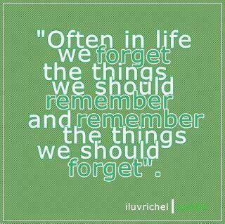 We often forget