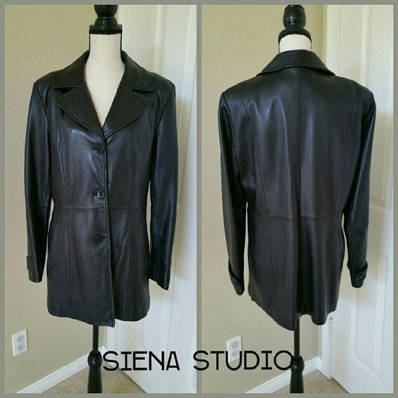 f96d46815 ⤵Siena Studio Leather Jacket Vintage Black Jacket 🔴 PRICE CUT ...