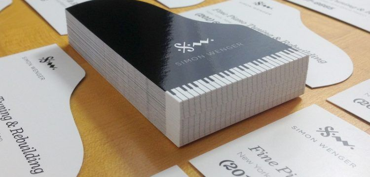 Business Card Piano Cartes De Visite