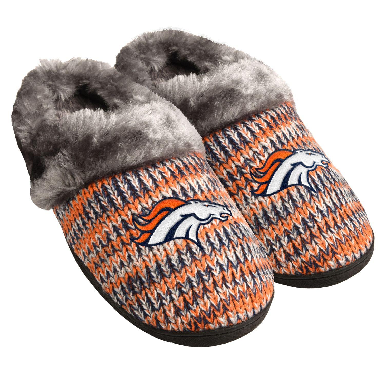 Denver Broncos Split Color Slide Slipper Large