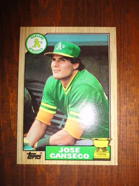 1987 Topps 620 Jose Canseco Topps All Star Rookie Baseball Card As