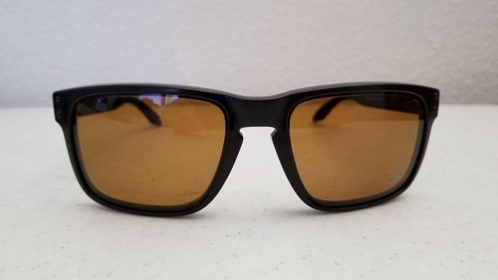 1c7428a12ebb2  40.95 Oakley Holbrook 009102-98 Sunglasses Black Frame Brown Polarized  Lenses  Oakley  Sport
