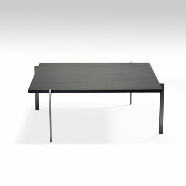 Poul Kjaerholm Pk61 Table Basse A Plateau En Ardoise Mobilier Galerie Chantala Table Basse Table Basse Carree Table