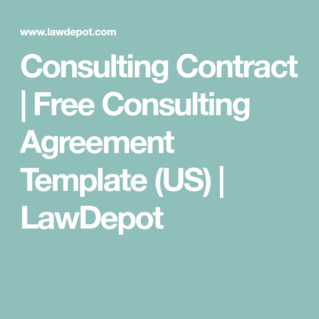 Consulting Contract  Free Consulting Agreement Template Us