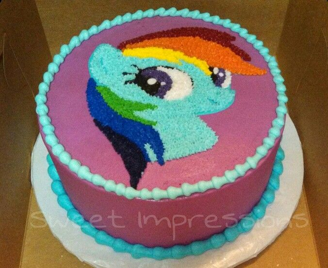 Rainbow dash cake my cakes my work www for Rainbow dash cake template