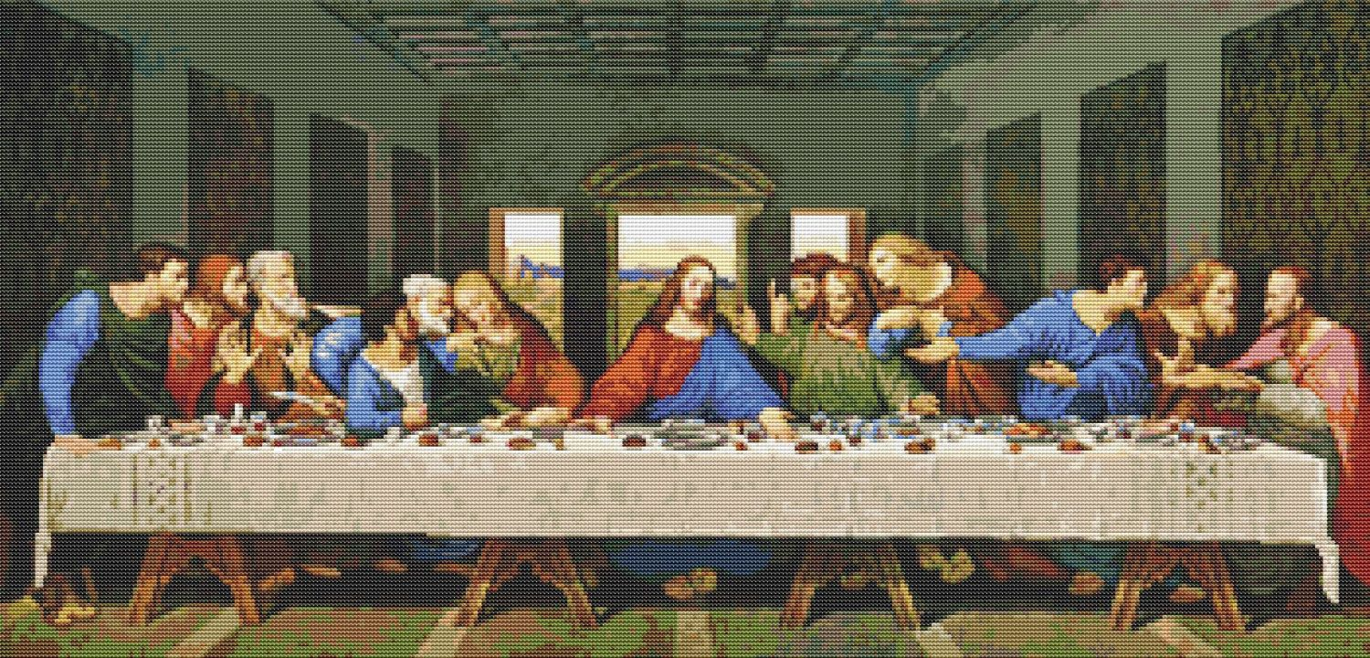 The Last Supper Cross Stitch Kit Leonardo Da Vinci Jesus Cross