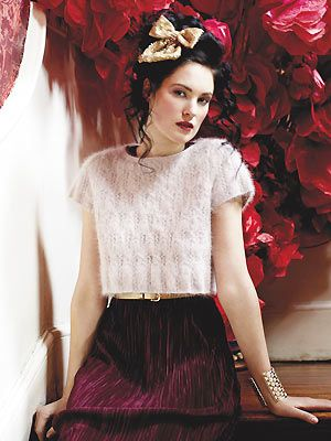 cropped angora cable sweater to knit - Free knitting patterns- Craft - allaboutyou.com