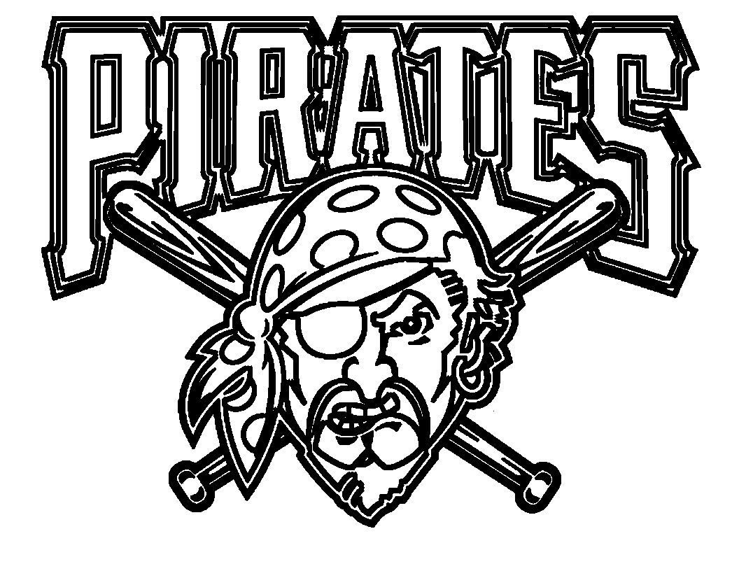 Emblem Pirates | Pirates | Baseball coloring pages, Pirate coloring ...