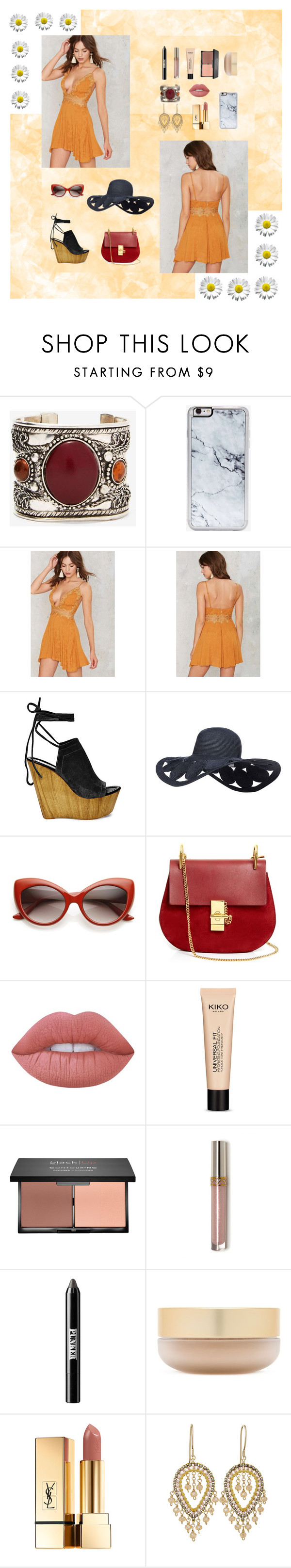 """Orange Summer Dress"" by giolina-st on Polyvore featuring Zero Gravity, Steve Madden, Chloé, Lime Crime, blacklUp, Ardency Inn, Eve Lom and Yves Saint Laurent"