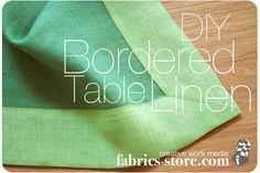 This site has some non-revolutionary but classy projects, all made with linen (that's their thing).