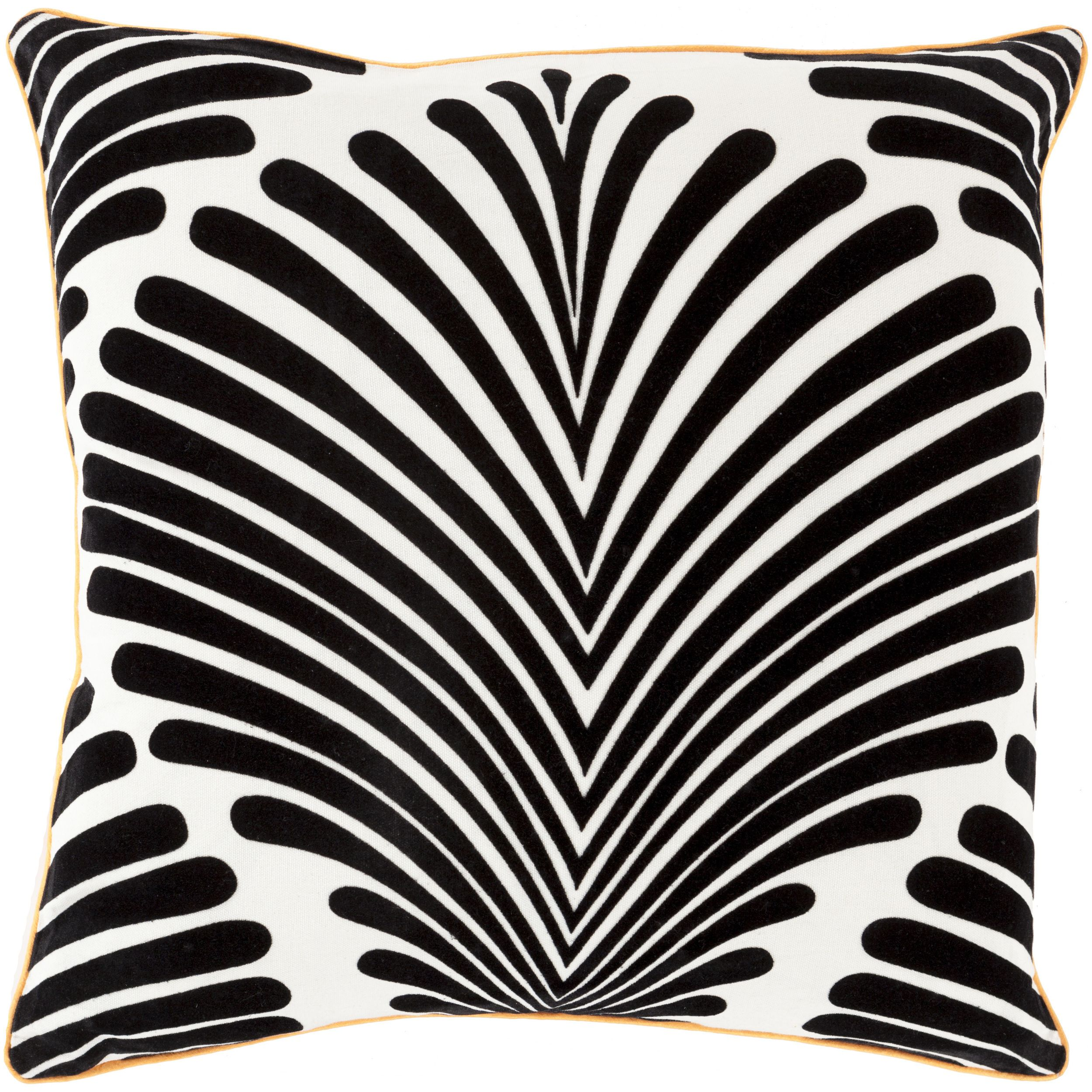 Decorative tucker graphic print feather down or polyester filled