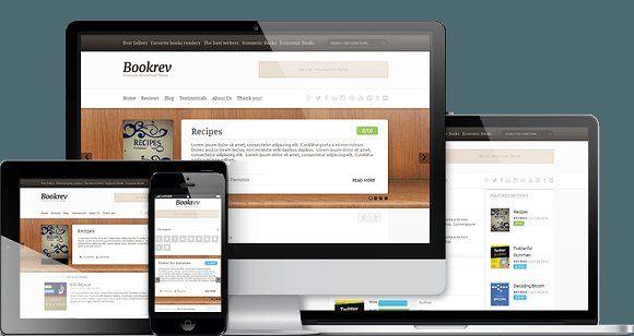 BookRev - Book Review WP Theme by ThemeIsle on @creativemarket | Web ...