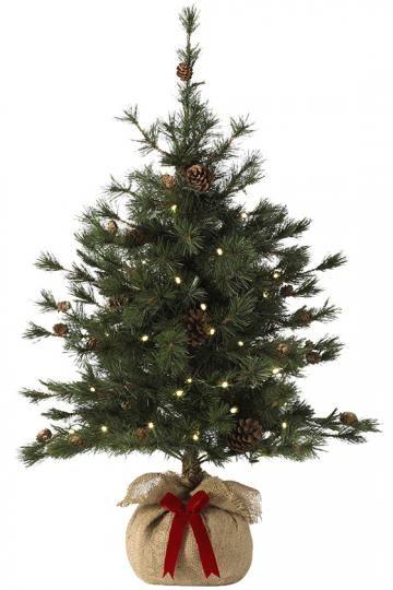 martha stewart living bristle cone pine tree faux plants small lighted tree pre lit christmas tree homedecoratorscom - Small Lighted Christmas Tree