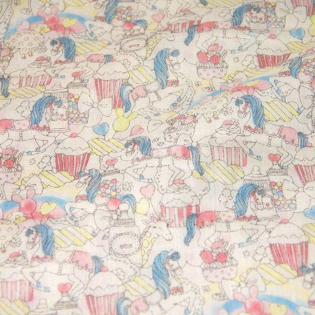 50cm*108cm Japanese DIY Patchwork Quilting Cloth Double Gauze Cotton Fabric Cute Little Pony Cake Pattern  C