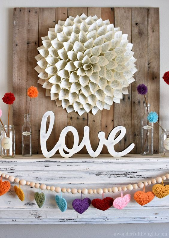 Photo of Colorful Valentine's Day Mantel – A Wonderful Thought