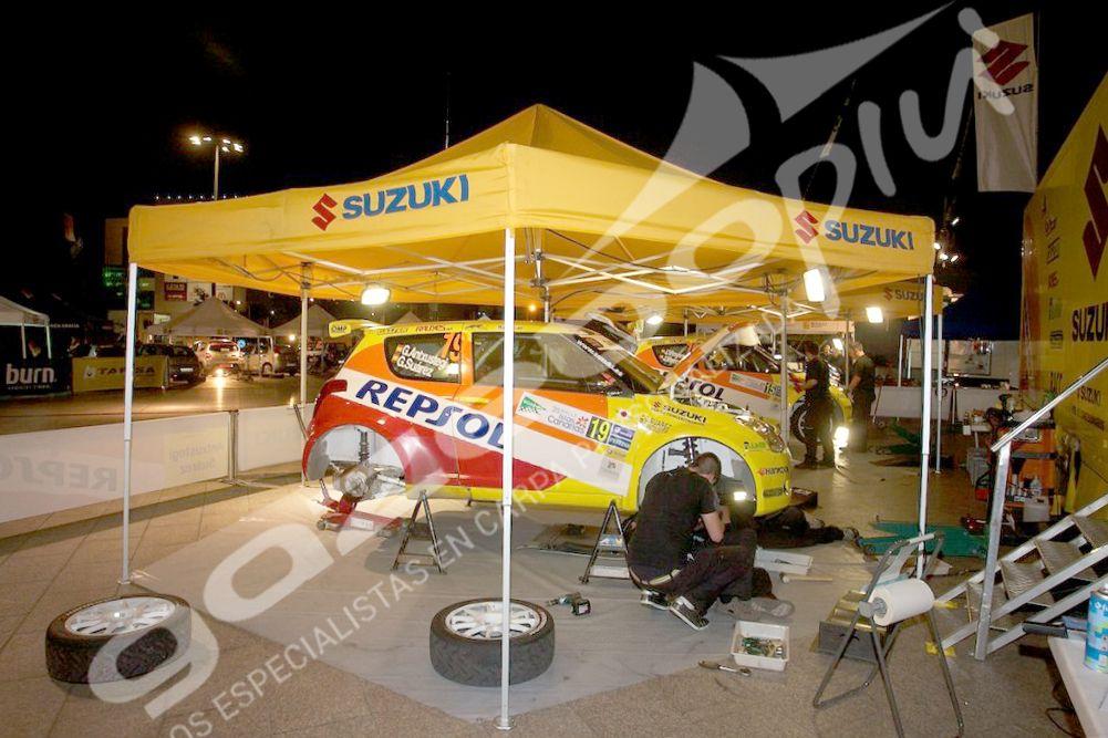 Carpa hexagonal para rally, carpa rotulada para Suzuki