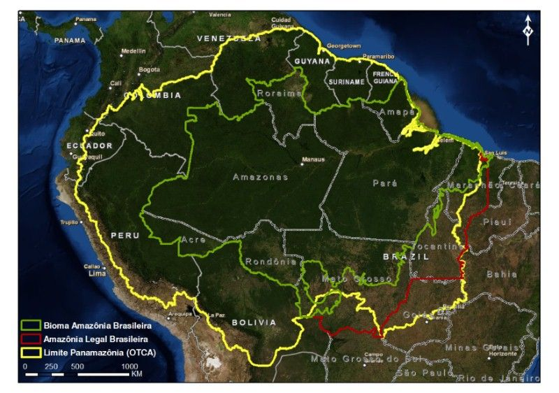 Amazônia Geografia Do Brasil Amazonia Legal E Bioma Amazonia