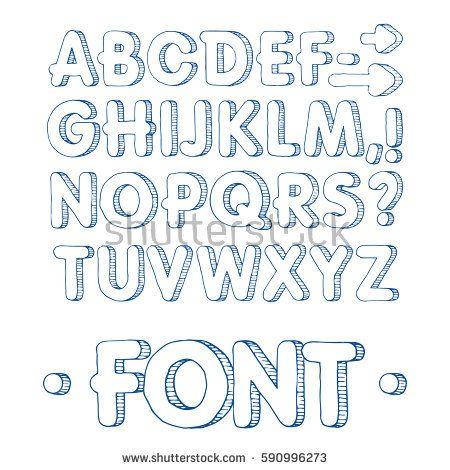 graphic font handmade sans serif font thin lines hand drawn