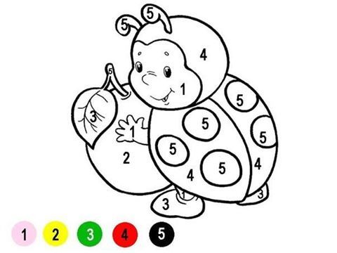 Раскраски по цифрам - веселые зверюшки   Omaľovánky, Pre ...
