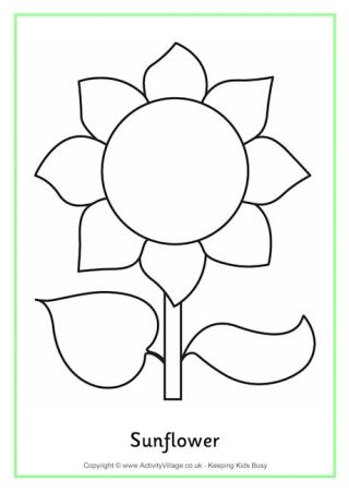 Sunflower Colouring Page 2 Sunflower Template Sunflower Coloring Pages Sunflower Crafts