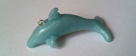 Dolphin Charm by MomopuffShop on Etsy