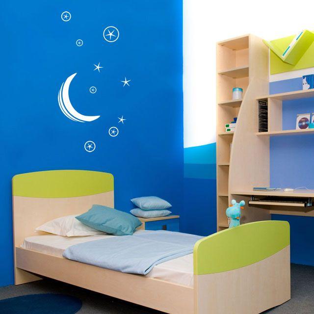Adesivo decorativo de parede - infantil, céu, espaço, planetas.