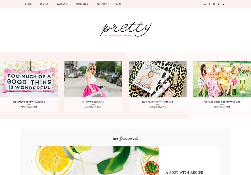 Pretty is such a cute WordPress theme! I love this one for lifestyle ...