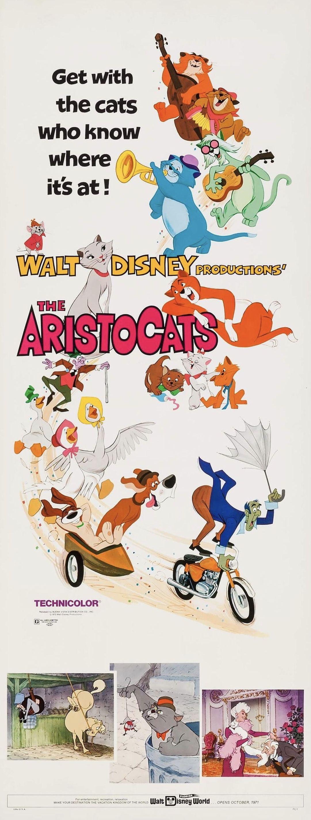 The Aristocats (Buena Vista, 1970). Disney posters