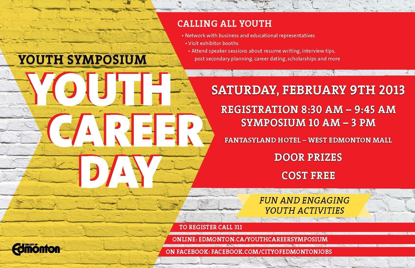 City of Edmonton 2013 Youth Career Symposium on February 9