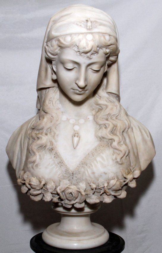 An Art Nouveau Alabaster And Bronze Figural Group Feb 11 2014 Hindman In Il Rodin Sculpture Bust Sculpture Sculpture Art