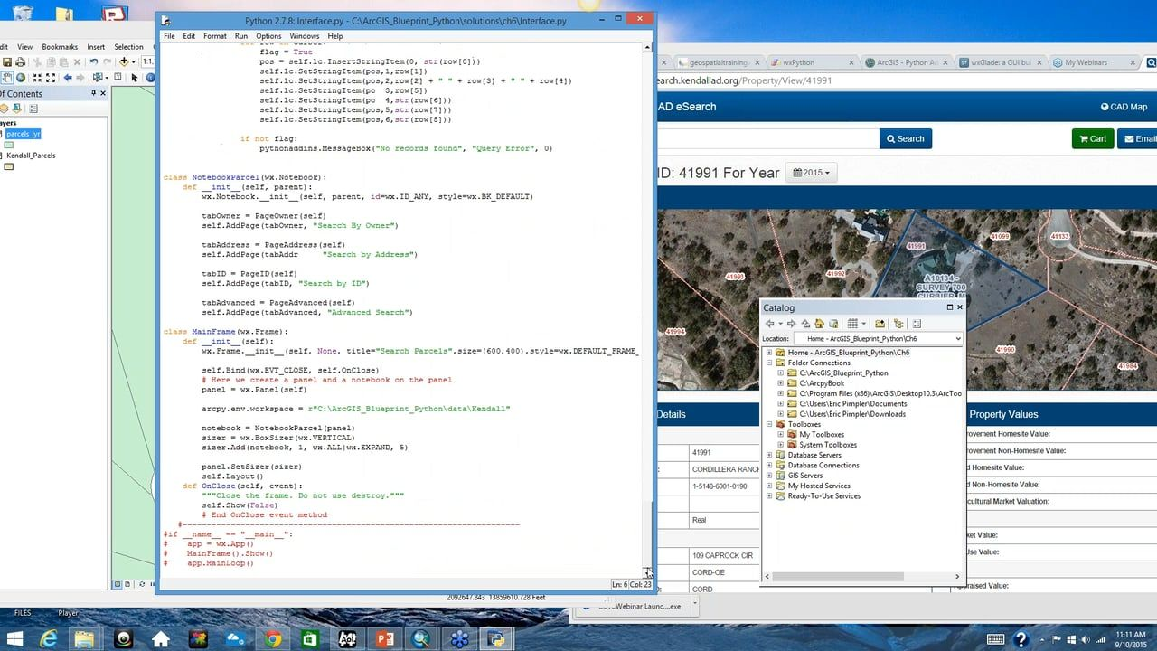 Building GUI Applications for ArcGIS Desktop with Python