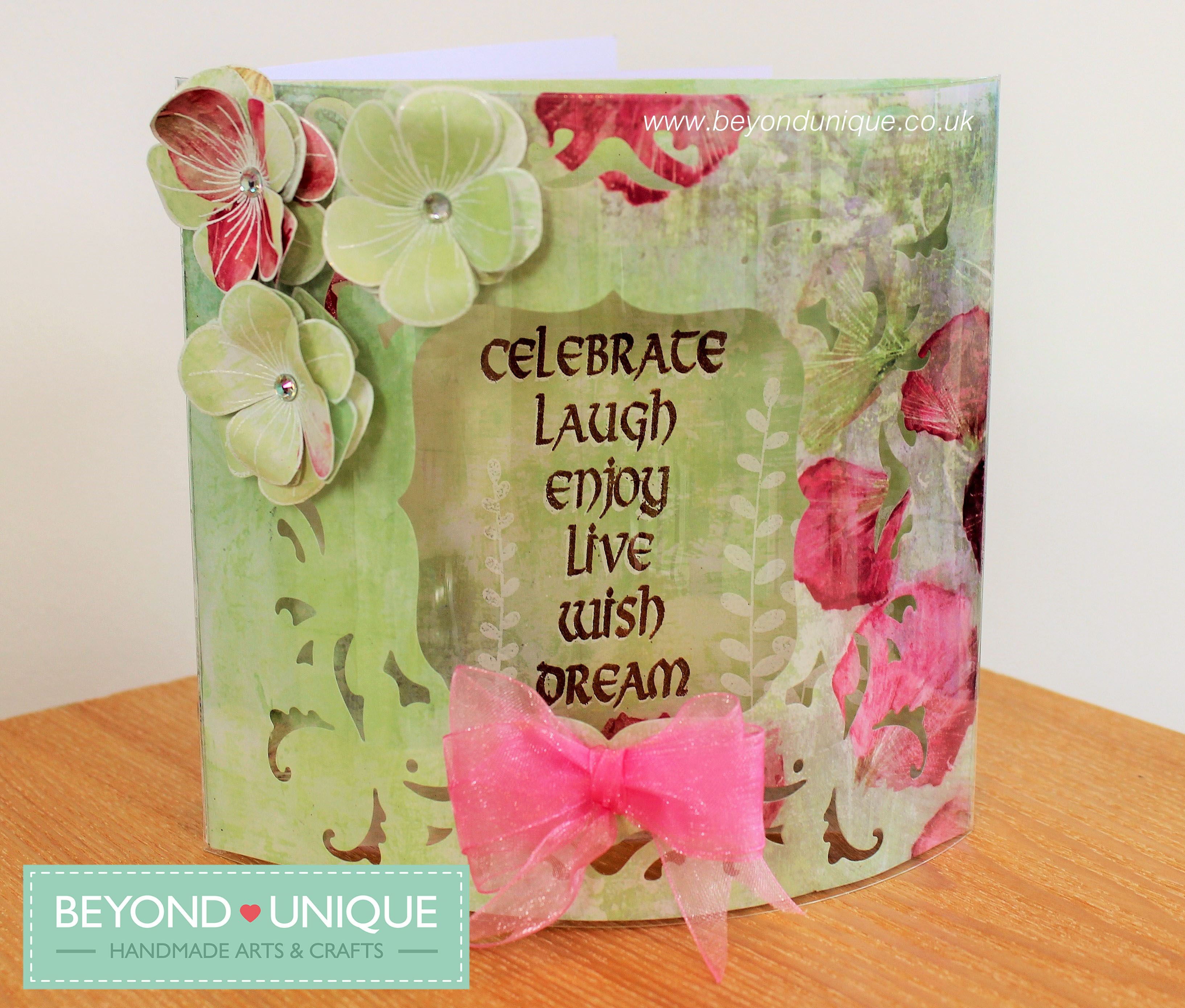Handmade Acetate Dome Card Made by Christine. https://www.facebook ...
