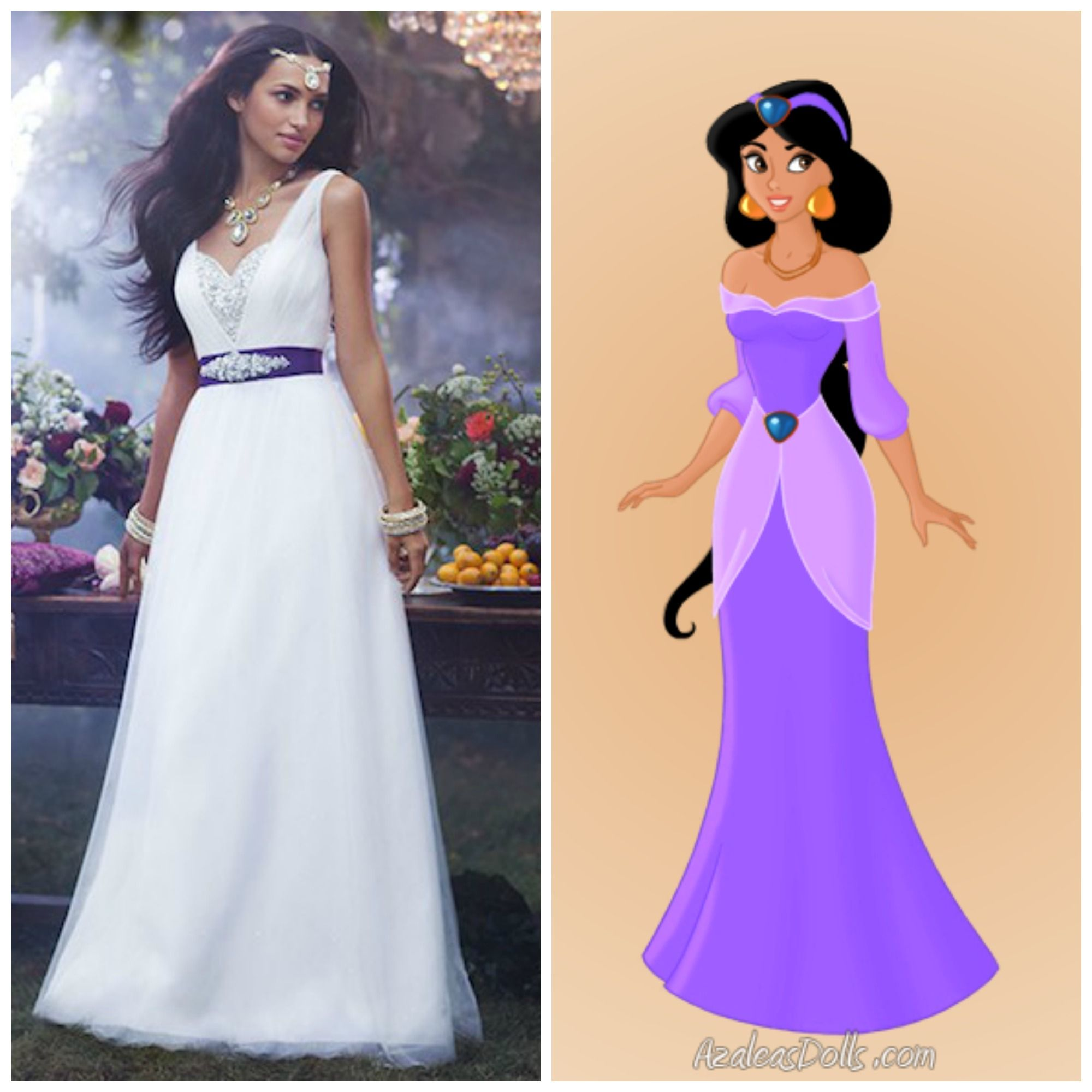 disney themed wedding dresses Disney Princess Jasmine Wedding Dress