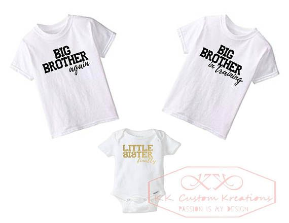 ba2a860e2 Custom toddler shirts-Custom Bodysuits-Big Brother-Little Sister-Custom  Onesie-Kids shirts- Pregnancy Announcement- Newborn-T-shirts