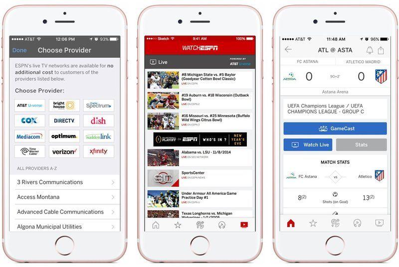 Updated Espn App Won T Make You Install Watchespn To Stream Live Sports Ios App Espn Live Video