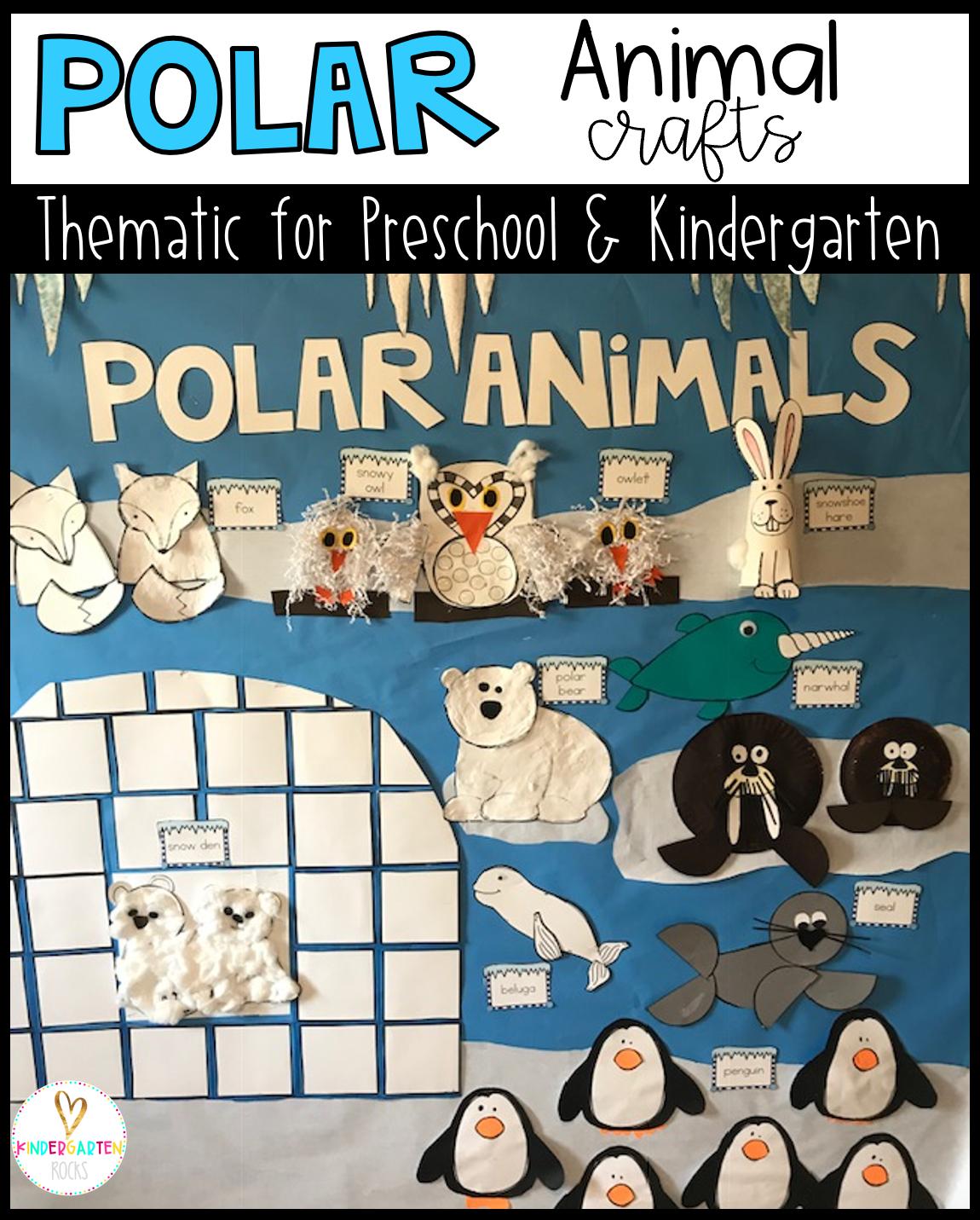 Polar Animal Crafts For Kids Preschool And Kindergarten
