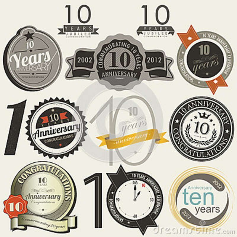 10 Years Anniversary Signs And Cards Design Business Anniversary Ideas Anniversary Sign Company Anniversary